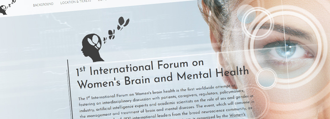 Neue Homepage / Onepage erstellt: 1st International Forum on Women's Brain and Mental Health
