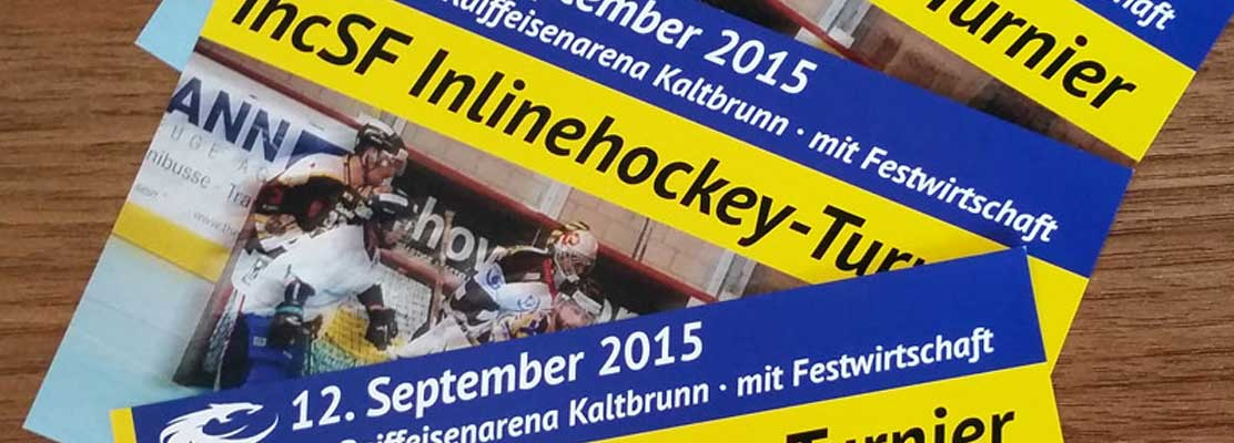 ihcSF Linth: Druckflyer Inlinehockey-Turnier