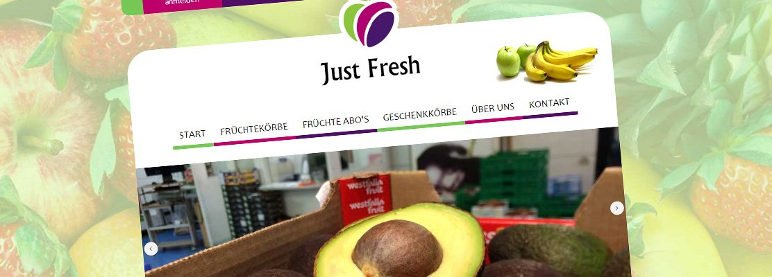 Just Fresh – Neue Website online