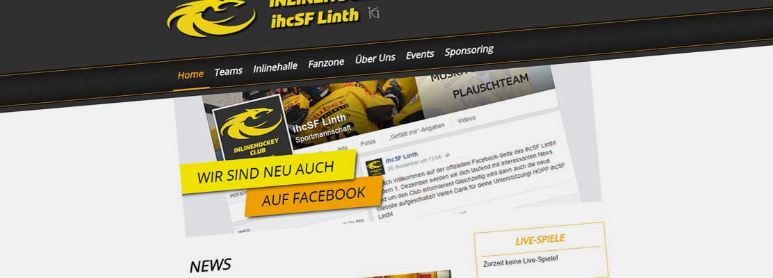Neue Website für Inlinehockey-Club ihcSF Linth