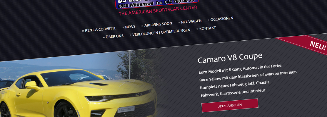 Neue Website: US Car Connection